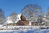 Spiekerhof in Hamburg Voksdorf im Winter: EUROPA, DEUTSCHLAND, HAMBURG, (EUROPE, GERMANY), 12.03.2013: Spiekerhof in Hamburg Voksdorf im Winter..