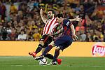 Barcelona´s Leo Messi (R) and Athletic de Bilbao´s Mikel Balenziaga during 2014-15 Copa del Rey final match between Barcelona and Athletic de Bilbao at Camp Nou stadium in Barcelona, Spain. May 30, 2015. (ALTERPHOTOS/Victor Blanco)