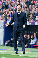 Coach Santiago Solari of Real Madrid during La Liga match between Atletico de Madrid and Real Madrid at Wanda Metropolitano in Madrid Spain. February 09, 2018. (ALTERPHOTOS/Borja B.Hojas)<br /> Liga Campionato Spagna 2018/2019<br /> Foto Alterphotos / Insidefoto <br /> ITALY ONLY