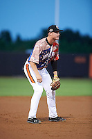 Aberdeen Ironbirds third baseman Austin Pfeiffer (23) during a game against the Tri-City ValleyCats on August 6, 2015 at Ripken Stadium in Aberdeen, Maryland.  Tri-City defeated Aberdeen 5-0 in a combined no-hitter.  (Mike Janes/Four Seam Images)