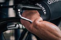 Mark Cavendish  (GBR/Dimension Data) after finishing his wet TT<br /> <br /> 104th Tour de France 2017<br /> Stage 1 (ITT) - Düsseldorf › Düsseldorf (14km)