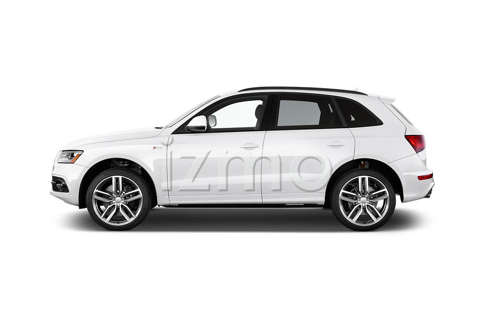 Car driver side profile view of a 2015 Audi SQ5 quattro tiptronic Premium 5 Door SUV