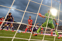 Lucas Martinez Quarta of ACF Fiorentina scores the goal of 1-0 during the Serie A 2021/2022 football match between ACF Fiorentina and SSC Napoli at Artemio Franchi stadium in Florence (Italy), October 3rd, 2021. Photo Andrea Staccioli / Insidefoto