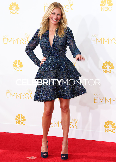 LOS ANGELES, CA, USA - AUGUST 25: Actress Julia Roberts arrives at the 66th Annual Primetime Emmy Awards held at Nokia Theatre L.A. Live on August 25, 2014 in Los Angeles, California, United States. (Photo by Celebrity Monitor)