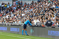 SAINT PAUL, MN - JULY 3: Referee Michael Radchuk VAR during a game between San Jose Earthquakes and Minnesota United FC at Allianz Field on July 3, 2021 in Saint Paul, Minnesota.