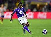 Orlando, FL - Wednesday July 31, 2019:  Diego Chara #21 during the Major League Soccer (MLS) All-Star match between the MLS All-Stars and Atletico Madrid at Exploria Stadium.