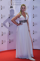 12/2/11 Ireland AM's Anna Daly on the red carpet at the 8th Irish Film and Television Awards at the Convention centre in Dublin. Picture:Arthur Carron/Collins