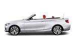 Car Driver side profile view of a 2017 BMW 2-Series 230i 2 Door Convertible Side View