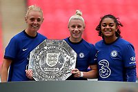 29th August 2020; Wembley Stadium, London, England; Community Shield Womens Final, Chelsea versus Manchester City; Bethany England of Chelsea Women celebrates with the Community Shield