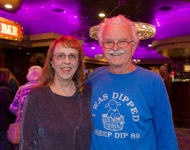 Sharon and Larry Pizorno during the Sheep Dip 54 Show at the Eldorado Hotel & Casino on Friday night, Jan. 12, 2018.