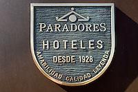 """Schild """"Paradores Hoteles"""" der Parador-Hotels in Spanien, Europa"""