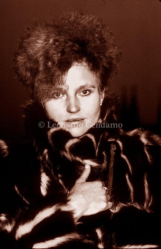 Hanna Schygulla, premi Principali, Orso d'oro alla carriera al Festival di Berlino 2010. Premio per la miglior attrice al Festival di Cannes. Milano, 16 novembre 1983. Photo by Leonardo Cendamo/Gettyimages