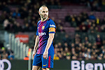Andres Iniesta Lujan of FC Barcelona reacts during the La Liga 2017-18 match between FC Barcelona and Deportivo Alaves at Camp Nou on 28 January 2018 in Barcelona, Spain. Photo by Vicens Gimenez / Power Sport Images