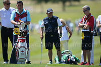 Brendan O'Carroll prepares to put for the green during the Bulmers 2018 Celebrity Cup at the Celtic Manor Resort. Newport, Gwent,  Wales, on Saturday 30th June 2018<br /> <br /> <br /> Jeff Thomas Photography -  www.jaypics.photoshelter.com - <br /> e-mail swansea1001@hotmail.co.uk -<br /> Mob: 07837 386244 -