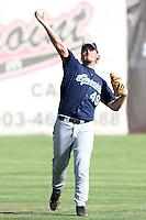 Eugene Emeralds pitcher Chris Wilkes #49 before a game against the Salem-Keizer Volcanoes at Volcanoes Stadium on August 9, 2011 in Salem-Keizer,Oregon. Eugene defeated Salem-Keizer 13-7.(Larry Goren/Four Seam Images)