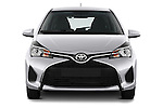 Car photography straight front view of a 2015 Toyota Yaris LE 3-Door Liftback AT 3 Door Hatchback Front View