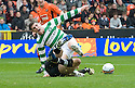 Copyright  Pic : James Stewart.sct_jsp001_scottish_referee_crisis  .SCOTTISH REFEREE CRISIS :: DUNDEE UTD V CELTIC 17TH OCTOBER 2010 :: THE INCIDENT WHICH SPARKED THE CURRENT CONTROVERSY :: CELTIC'S GARY HOOPER APPEARS TO BE BROUGHT DOWN BY DUNDEE UTD'S DUSAN PERINS FOR THE PENALTY THAT NEVER WAS :: REFEREE DOUGIE MCDONALD INITIALLY AWARDED THE PENALTY BUT THEN RETRACTED THE DECISION AFTER CONSULTING ASSISTANT STEVEN CRAVEN ::.James Stewart Photography 19 Carronlea Drive, Falkirk. FK2 8DN      Vat Reg No. 607 6932 25.Telephone      : +44 (0)1324 570291 .Mobile              : +44 (0)7721 416997.E-mail  :  jim@jspa.co.uk.If you require further information then contact Jim Stewart on any of the numbers above.........