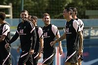Lionel Leo Messi ( 30 - PSG ) - Leandro Paredes ( 8 - PSG ) - Angel Di Maria ( 11 - PSG ) - Mauro Icardi ( 9 - PSG ) - <br /> Saint Germain en Laye 13/08/2021 <br /> Training Paris Saint Germain  <br /> Football Ligue 1 2021/2022<br /> Photo Federico Pestellini/Panoramic/insidefoto <br /> ITALY ONLY
