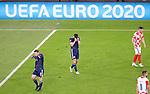 22.06.2021 Croatia v Scotland: Callum McGregor and Kieran Tierney dejection