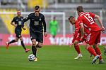 v.li.: Marvin Pourie (Kaiserslautern, 9) am Ball, Alexander Lungwitz (Bayern München, FCB, 15) Kilian Senkbeil (Bayern München, FCB, 13) beim Spiel in der 3. Liga, FC Bayern München II -1. FC Kaiserslautern.<br /> <br /> Foto © PIX-Sportfotos *** Foto ist honorarpflichtig! *** Auf Anfrage in hoeherer Qualitaet/Aufloesung. Belegexemplar erbeten. Veroeffentlichung ausschliesslich fuer journalistisch-publizistische Zwecke. For editorial use only. DFL regulations prohibit any use of photographs as image sequences and/or quasi-video.