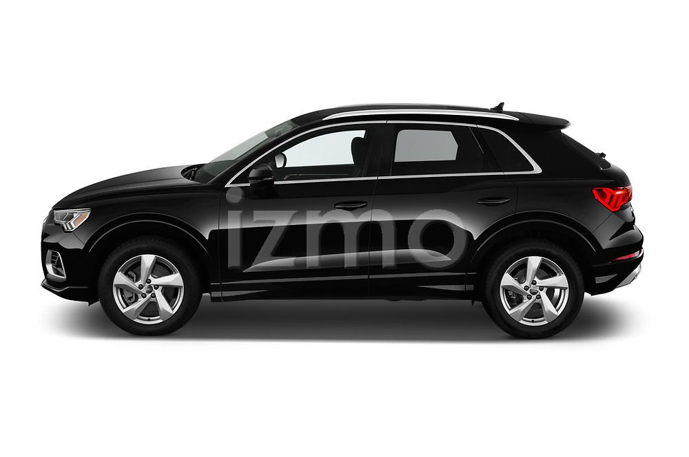 Car driver side profile view of a 2019 Audi Q3 Premium Plus 5 Door SUV