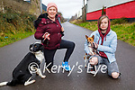 Ready for a stroll on the Slim Mile Greenway in Tralee on Sunday, l to r: Tracy Hawkins with Sophie the dog and Caoimhe Hawkins with Bonnie the dog .
