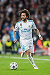 Marcelo Vieira Da Silva of Real Madrid in action during the UEFA Champions League 2017-18 Round of 16 (1st leg) match between Real Madrid vs Paris Saint Germain at Estadio Santiago Bernabeu on February 14 2018 in Madrid, Spain. Photo by Diego Souto / Power Sport Images