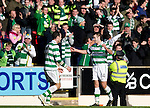 St Johnstone v Celtic..30.10.10  .Niall McGinn celebrates his goal with Anthony Stokes.Picture by Graeme Hart..Copyright Perthshire Picture Agency.Tel: 01738 623350  Mobile: 07990 594431