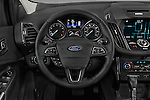 Car pictures of steering wheel view of a 2018 Ford Escape Titanium 5 Door Suv Steering Wheel