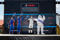 LMP3 2 Podium, #24: Sean Creech Motorsport Ligier JS P3, P3-2: Francesco Melandri, Lance Willsey, #61: Conquest Racing Norma M30, P3-2: Danny Kok, George Staikos