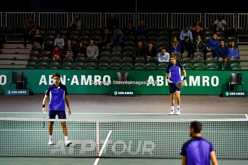 Rotterdam, The Netherlands, 12 Februari 2020, ABNAMRO World Tennis Tournament, Ahoy, Doubles: Pierre-Hugues Herbert (FRA) and Nicolas Mahut (FRA).<br /> Photo: www.tennisimages.com