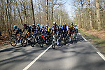 The peloton during Stage 2 of Paris-Nice 2021, running 188km from Oinville-sur-Montcient to Amilly, France. 8th March 2021.<br /> Picture: ASO/Fabien Boukla | Cyclefile<br /> <br /> All photos usage must carry mandatory copyright credit (© Cyclefile | ASO/Fabien Boukla)