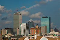 Downtown Boston from Mission Hill, Boston, Massachusetts, US, October 2007