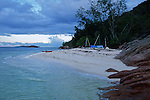 our bivouac on the north coast of Praslin