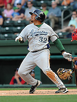 Infielder Kody Hinze (32) of the Lexington Legends, Class A affiliate of the Houston Astros, at a game against the Greenville Drive April 25, 2010, at Fluor Field at the West End in Greenville, S.C. Photo by: Tom Priddy/Four Seam Images