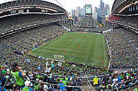 SEATTLE, WA - NOVEMBER 10: General view of crowd during a game between Toronto FC and Seattle Sounders FC at CenturyLink Field on November 10, 2019 in Seattle, Washington.
