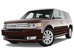 Low aggressive front three quarter view of a 2009 Ford Flex.