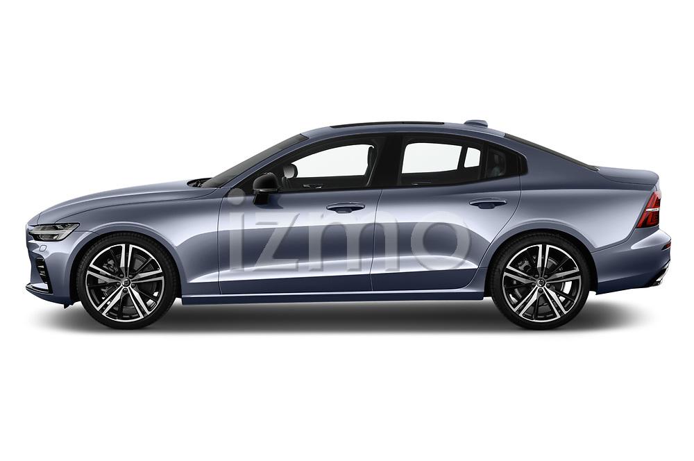 Car driver side profile view of a 2019 Volvo S60 R-Design 4 Door Sedan