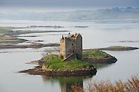 Castle Stalker ,Loch Laich,  Portnacroish, Highlands, Scotland. Castle Aargh in Monty Python film The Holy Grail.