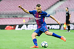 Jordi Alba Ramos of FC Barcelona in action during the La Liga 2017-18 match between FC Barcelona and Las Palmas at Camp Nou on 01 October 2017 in Barcelona, Spain. (Photo by Vicens Gimenez / Power Sport Images