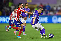 Orlando, FL - Wednesday July 31, 2019:  Bastian Schweinsteiger #31, Ángel Correa #10 during the Major League Soccer (MLS) All-Star match between the MLS All-Stars and Atletico Madrid at Exploria Stadium.