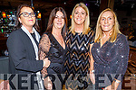 Sandra O'Callaghan (Ballybunion), Marie Hutchinson (Fenit), Angela Enright (Ballybunion) and Maura Hanrahan (Ballybunion) attending the Connect Kerry Women's Christmas in Style lunch in the Ashe Hotel on Sunday.
