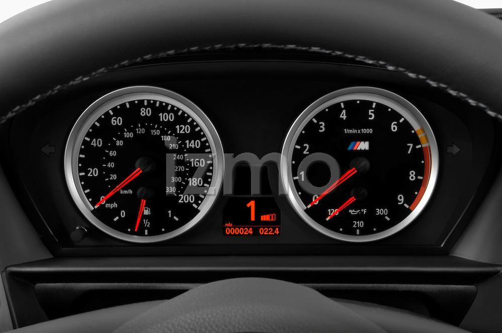 Instrument panel close up detail view of a 2008 BMW M5 Sedan