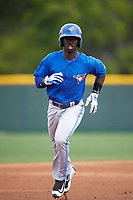 Toronto Blue Jays JD Davis (32) during a minor league Spring Training game against the Pittsburgh Pirates on March 24, 2016 at Pirate City in Bradenton, Florida.  (Mike Janes/Four Seam Images)