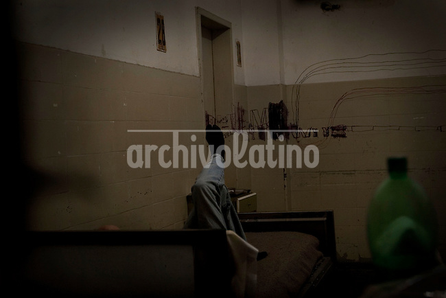"""Photo essay on the mental illnes institute Jose Borda in Buenos Aires, Argentina. Despite many plans to refurbish the place, this hospital is what doctor call a """"lunatics dump"""", a place where they put those ones with no family, no money and little attention."""