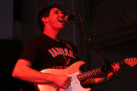 SAN FRANCISCO - May 24:  Barry Zito of the San Francisco Giants plays guitar and sings at a charity jam concert he organized to benefit two non-profits at Ruby Skye nightclub in San Francisco, California on May 24, 2007.  Photo by Brad Mangin