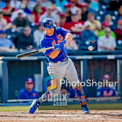 7 March 2019: New York Mets infielder J.D. Davis at bat during a Spring Training Game against the Washington Nationals at the Ballpark of the Palm Beaches in West Palm Beach, Florida. The Nationals defeated the visiting Mets 6-4 in Grapefruit League, pre-season play. Mandatory Credit: Ed Wolfstein Photo *** RAW (NEF) Image File Available ***