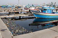 Tripoli, Libya - Fishing Boats and Plastic Garbage, Pollution, Tripoli Harbor, Harbour