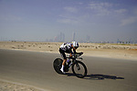 Giacomo Nizzolo (ITA) Team Qhubeka Assos during Stage 2 of the 2021 UAE Tour an individual time trial running 13km around  Al Hudayriyat Island, Abu Dhabi, UAE. 22nd February 2021.  <br /> Picture: Eoin Clarke | Cyclefile<br /> <br /> All photos usage must carry mandatory copyright credit (© Cyclefile | Eoin Clarke)