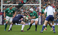 Saturday 10th March 2018 |  Ireland vs Scotland<br /> <br /> Rory Best passes inside to CJ Stander during the NatWest 6 Nations clash between Ireland and Scotland at the Aviva Stadium, Lansdowne Road, Dublin, Ireland. Photo by John Dickson / DICKSONDIGITAL